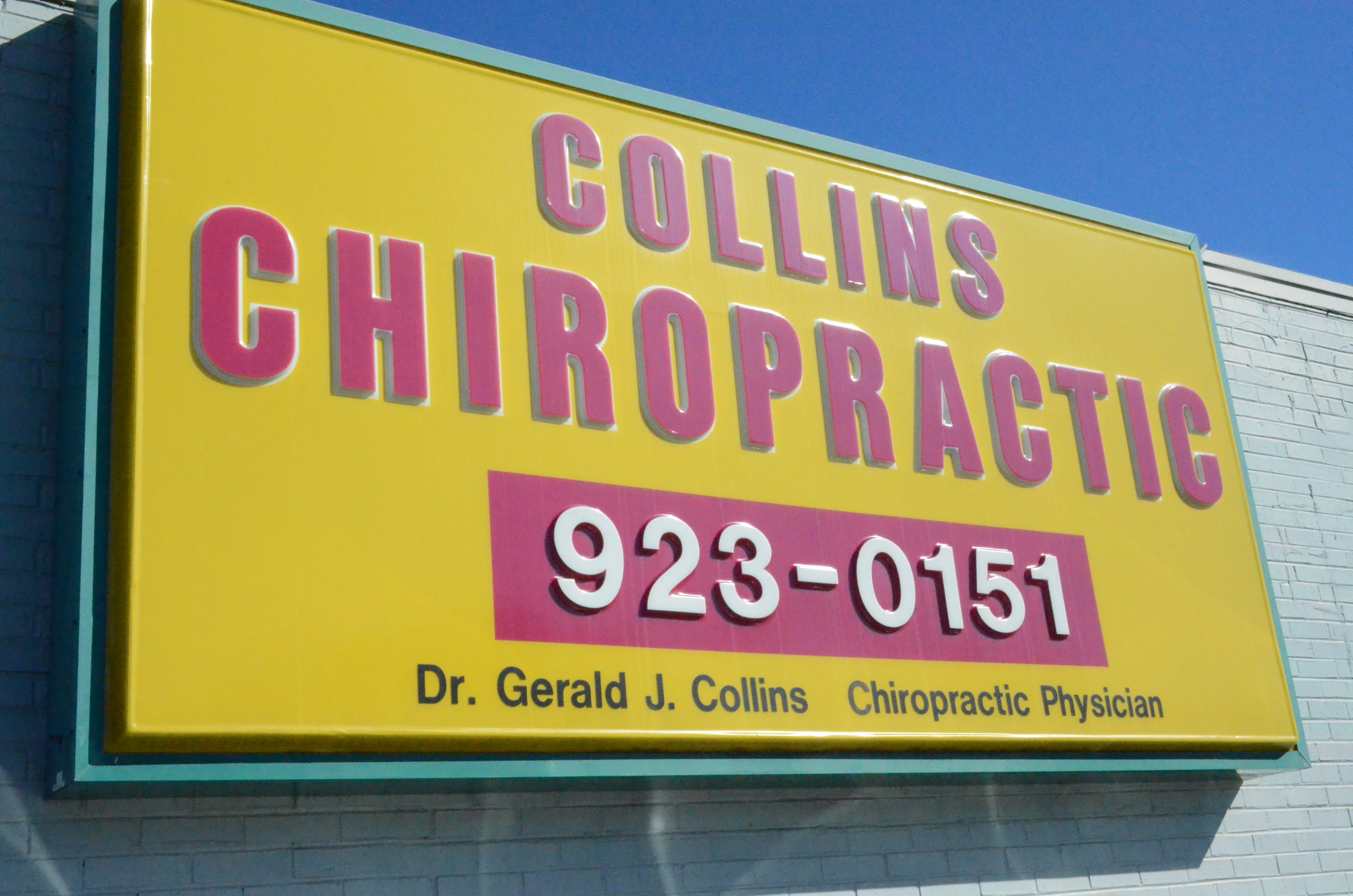 Collins Chiropractic sign